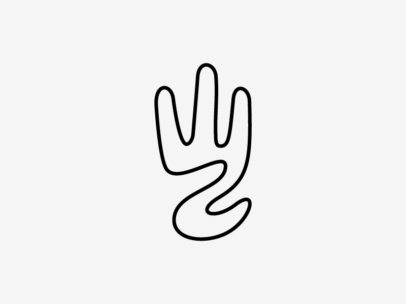 Hand Outline by Stevan Rodic