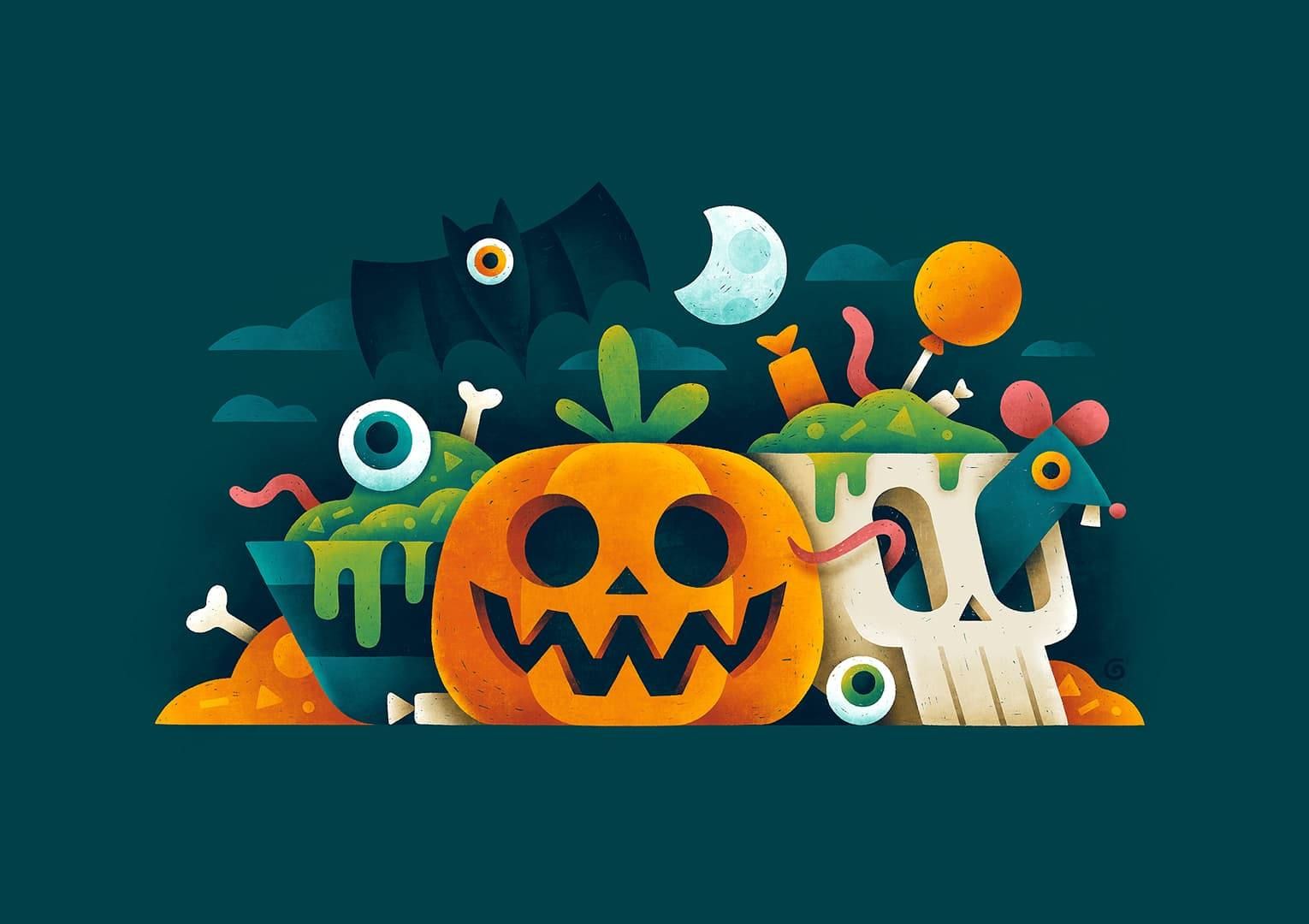 28 Spooky Halloween Illustrations