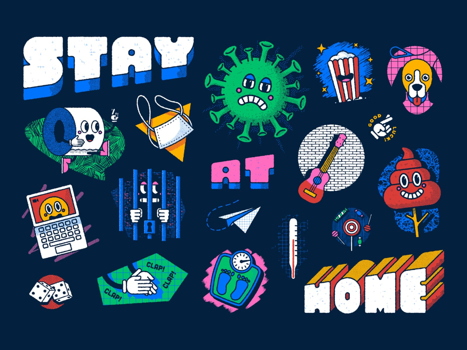 Stay at home Board Game by David Sierra