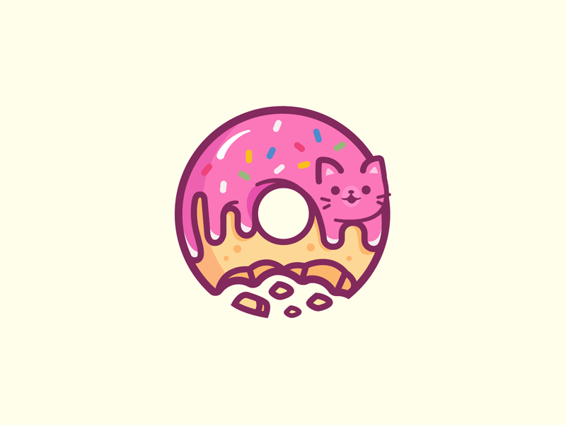 Donut Cat by Carlos Puentes