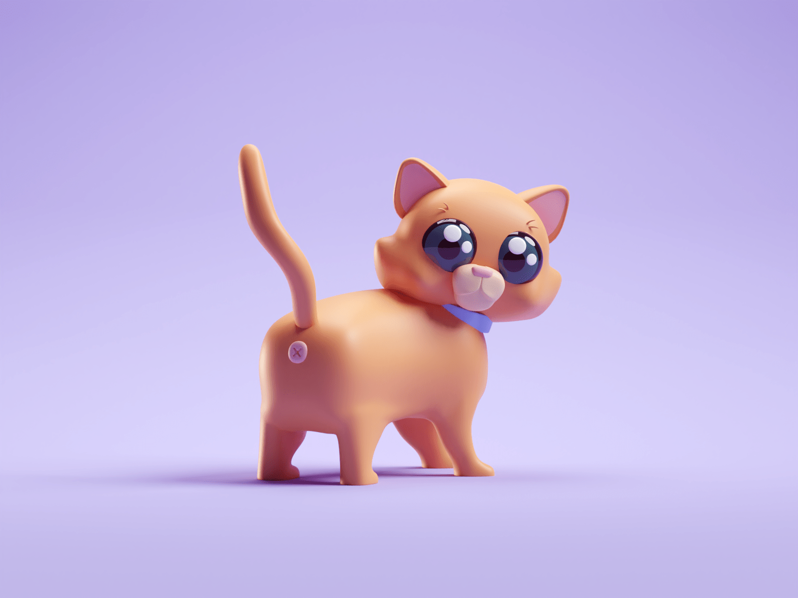 Cat Butt by Mohamed Chahin