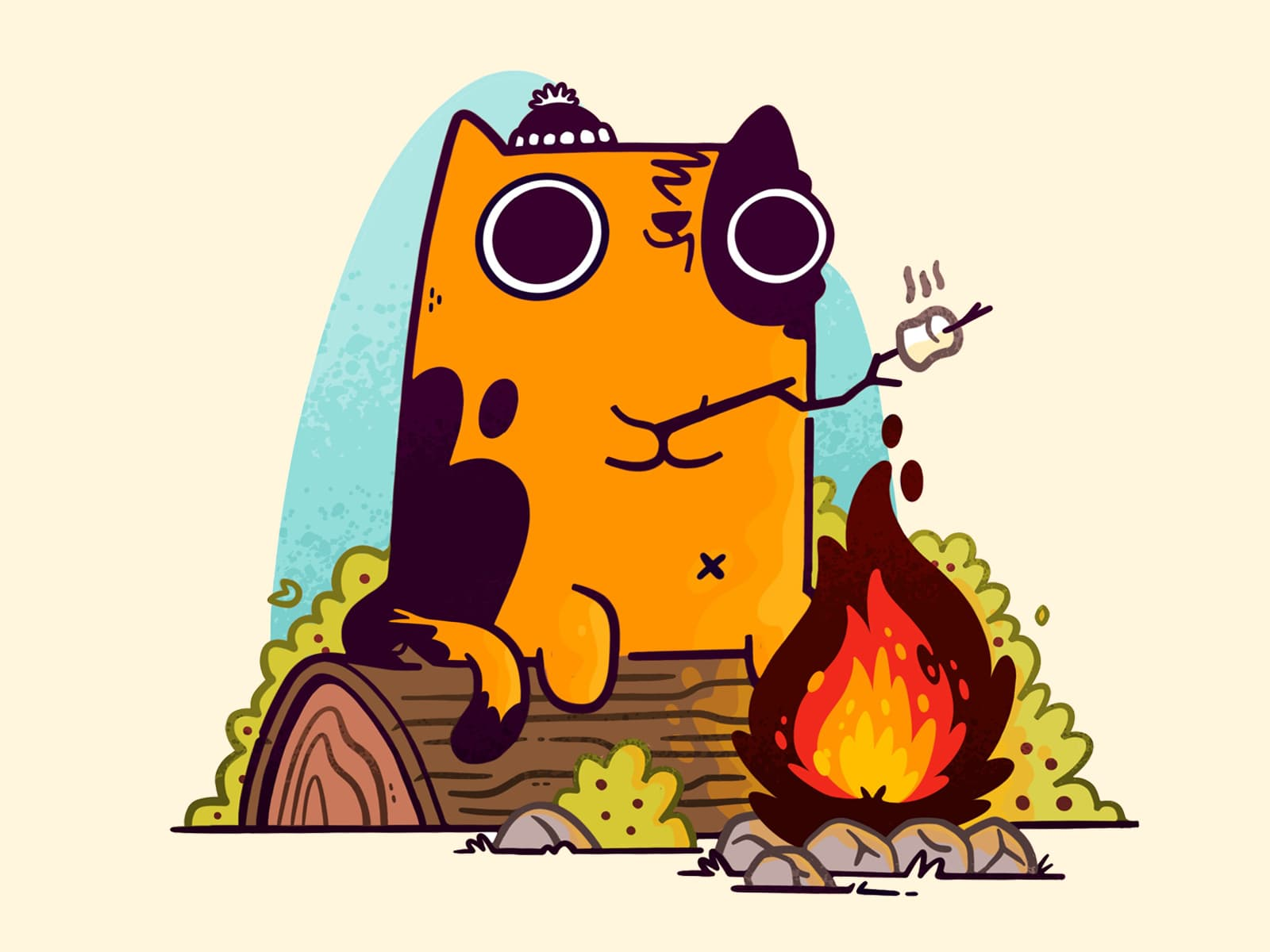 Camp Fire Cat by Jetpacks and Rollerskates