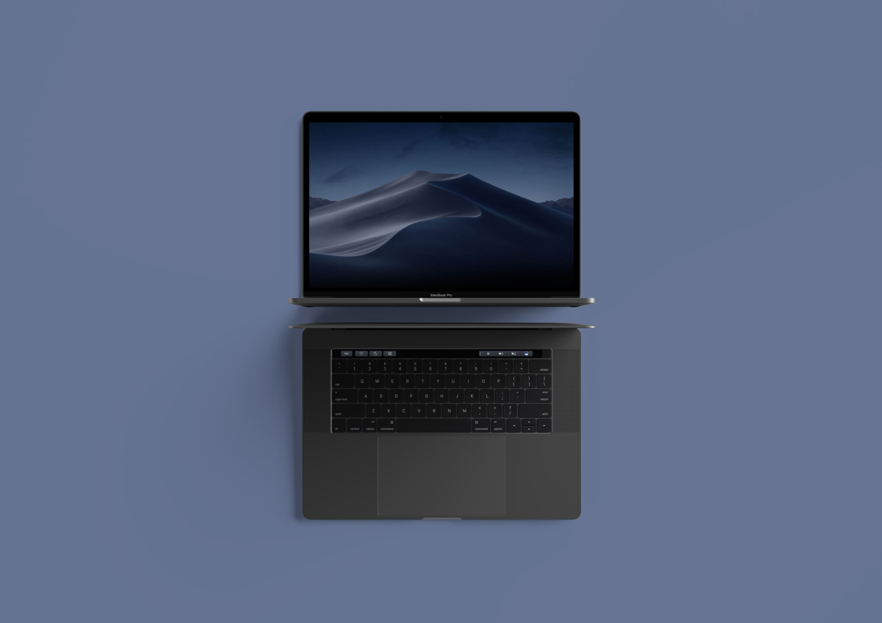 Modern Top View MacBook Pro by Anthony Boyd