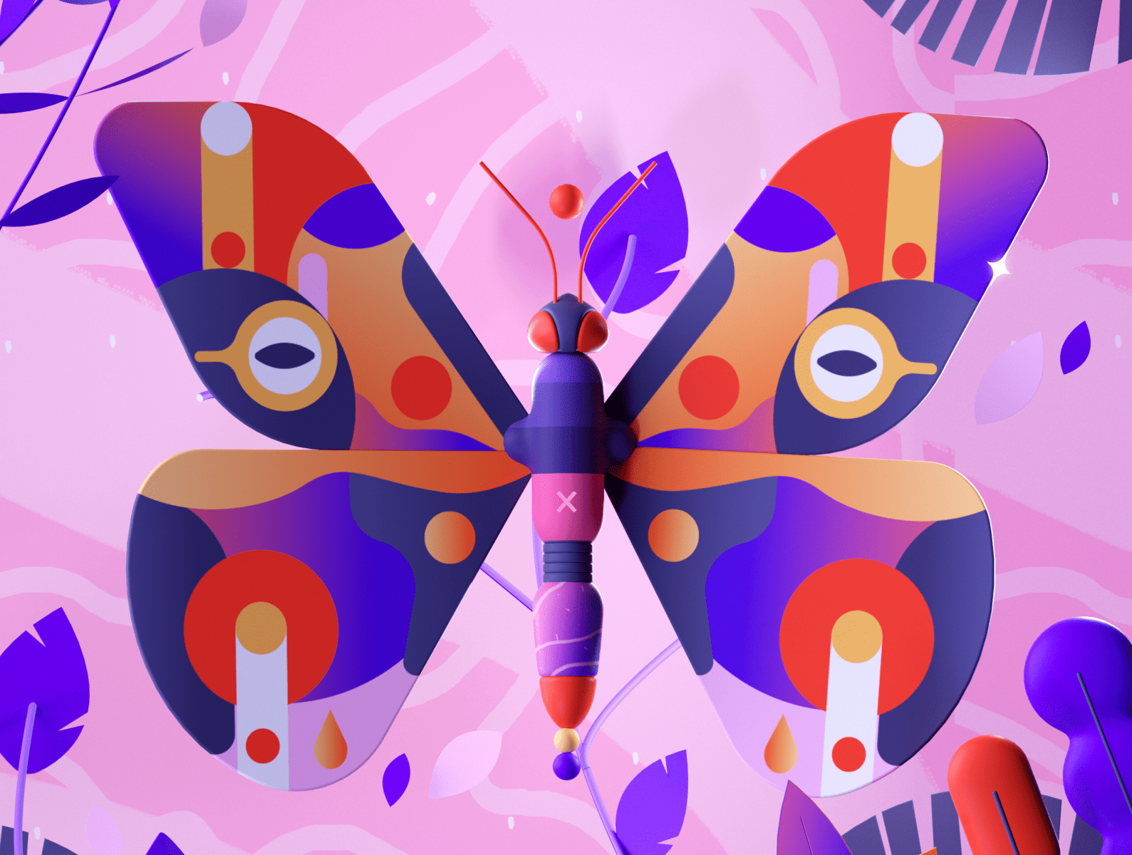 Colorful Butterfly by Mathieu L.B