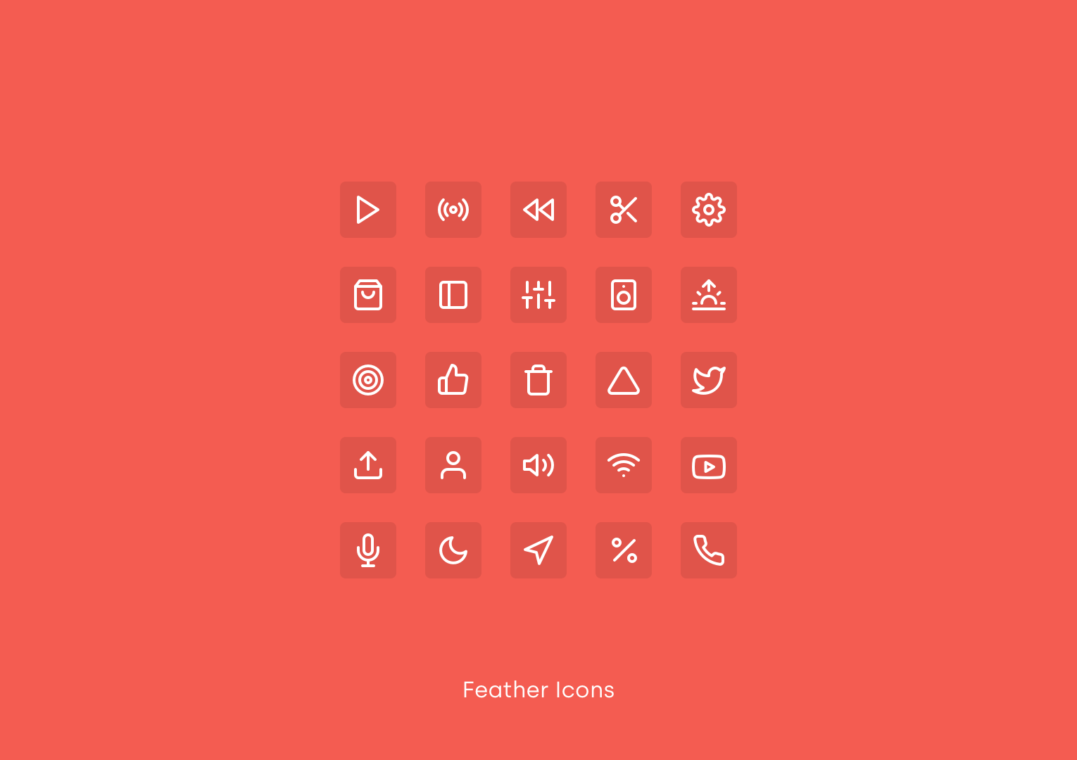 Feather Icons by Cole Bemis