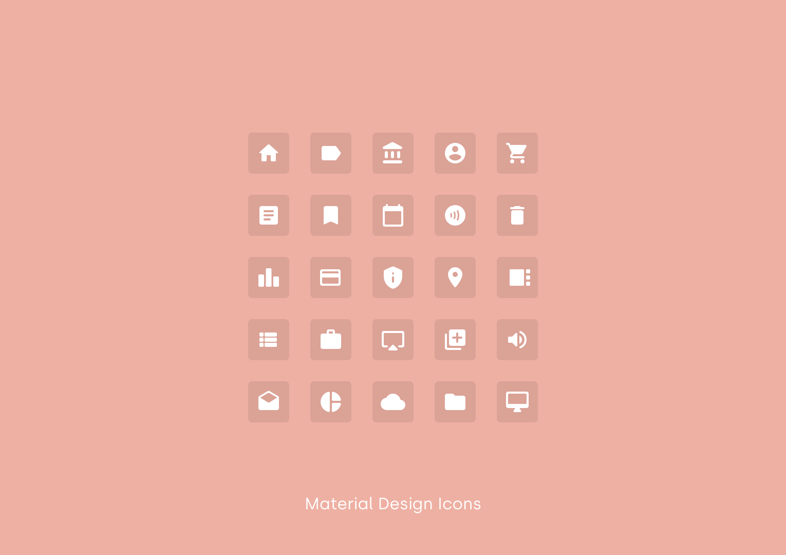Material Design Icons by Google Material Design Icons