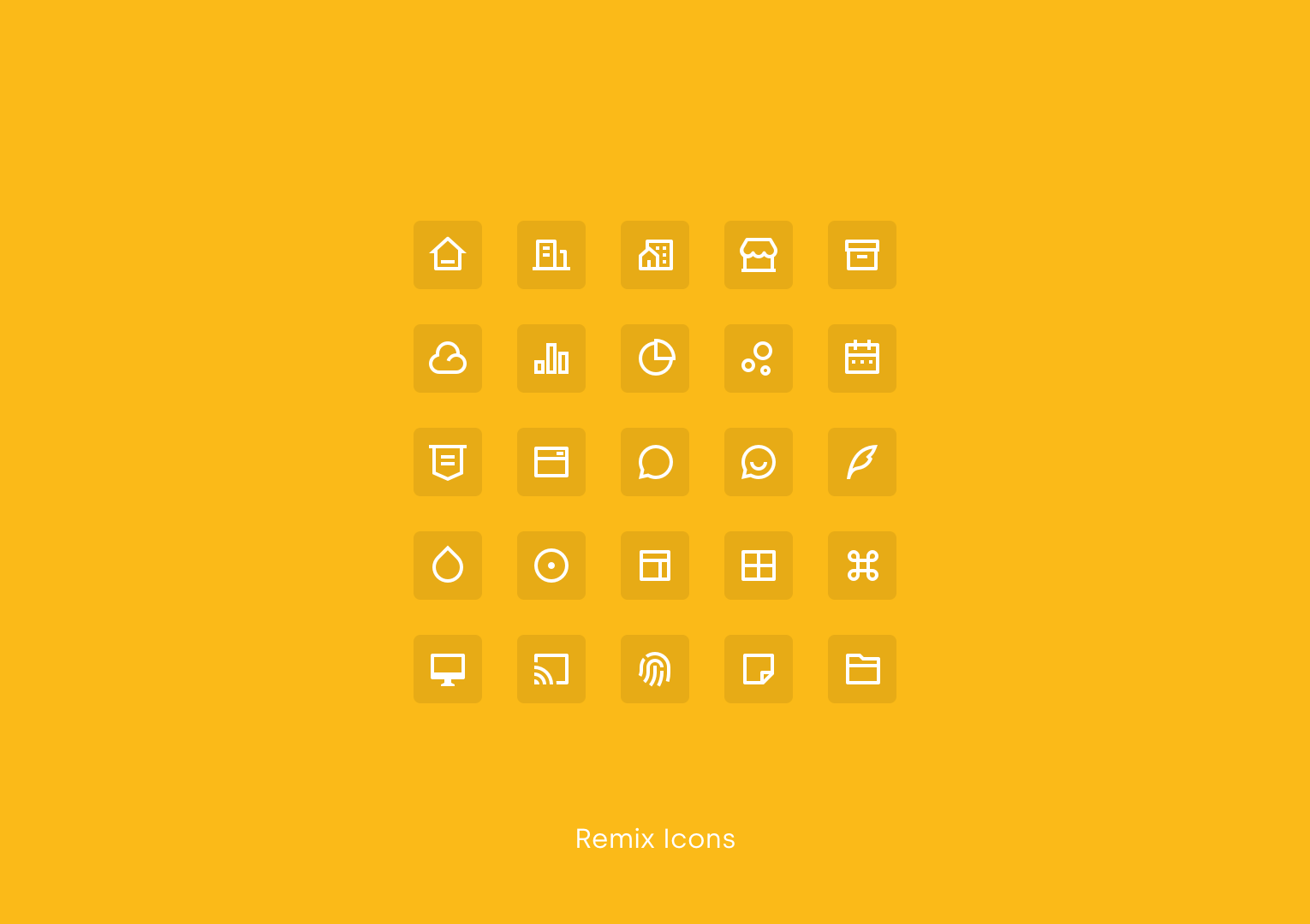 Remix Icons by Jimmy Cheung & Wendy Gao