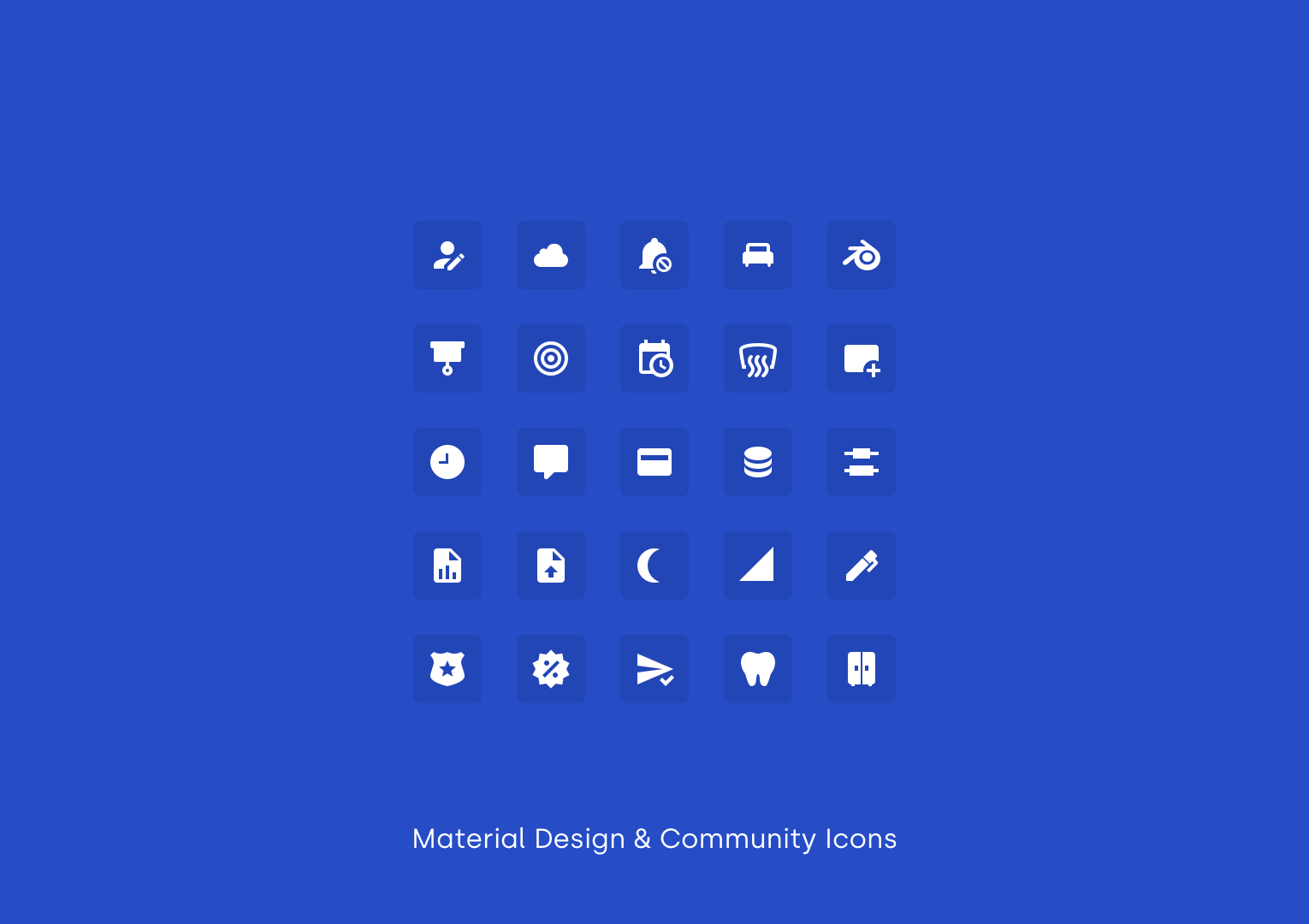 Material Design & Community Icons by Material Design & Community